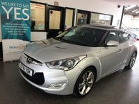 USED 2012 61 HYUNDAI VELOSTER 1.6 GDI SPORT 4d 138 BHP Two owners, service history, January 2020 Mot. Finished in Sleek Silver with full Black leather. Lovely specification