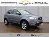USED 2012 12 SSANGYONG KORANDO 2.0 EX 5d 175 BHP Full Service History + Leather Buy Now, Pay Later Finance!