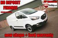USED 2018 18 FORD TRANSIT CUSTOM 2.0 280 BASE P/V L1 H1 NEW SHAPE + FORD WARRANTY  VALUE NEW SHAPE TRANSIT CUSTOM +  EURO 6 ULEZ+LEZ COMPLIANT