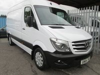 2014 MERCEDES-BENZ SPRINTER 319 CDi MWB High roof *VERY RARE 3.0 190 BHP*VERY HIGH SPEC*  £18995.00