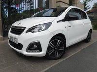 USED 2016 66 PEUGEOT 108 1.2 PURETECH GT LINE 3d 82 BHP *** FINANCE & PART EXCHANGE WELCOME *** 1 OWNER £ 0 FREE TAX SAT/NAV REVERSE CAMERA BLUETOOTH PHONE FULL BLACK LEATHER DAB RADIO AUX & USB SOCKETS