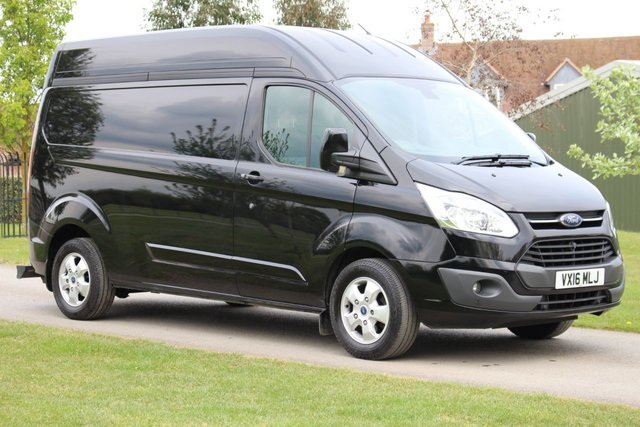 USED 2016 16 FORD TRANSIT CUSTOM 2.2 290 LIMITED LR P/V 1d 124 BHP l2 high top  h2 Limited - High top - Long wheel base - Black