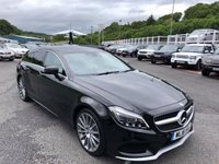 USED 2016 16 MERCEDES-BENZ CLS CLASS 2.1 CLS220 D AMG LINE 5d 174 BHP Metallic Black, Cream leather, Multibeam LED lights, COMAND Sat Nav ++