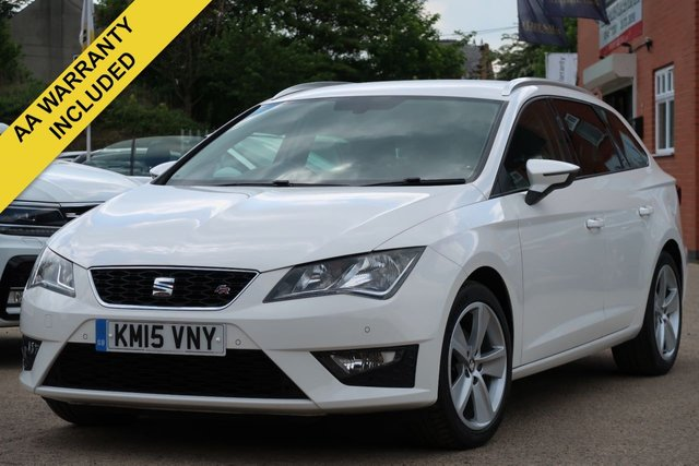 USED 2015 15 SEAT LEON 2.0 TDI FR 5d 150 BHP FULL SEAT HISTORY, FRONT AND REAR PARK PILOT