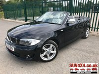 USED 2012 12 BMW 1 SERIES 2.0 118D EXCLUSIVE EDITION 2d 141 BHP LEATHER FSH CONVERTIBLE. STUNNING BLACK MET WITH FULL PEARL LEATHER TRIM. HEATED SEATS. 17 INCH ALLOYS. COLOUR CODED TRIMS. BLUETOOTH PREP. AIR CON. 6 SPEED MANUAL. R/CD PLAYER. MFSW. TOW BAR. MOT 01/20. SERVICE HISTORY. SUV & 4X4 CAR CENTRE LS23 7FR. TEL 01937 849492. OPTION 2