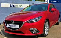 USED 2014 MAZDA 3 2.0 SPORT NAV 5d 163 BHP A superb specification on a superb vehicle in spotless condition - Full Leather Interior with Heated Seats, Front & Rear Parking Sensors, Satellite Navigation, Bluetooth Phone & Audio with BOSE Sound System and Heads Up Display...