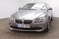 USED 2012 62 BMW 6 SERIES 3.0 640D SE 2DR AUTO 309 BHP PRO SAT NAV HEATED LEATHER FULL BMW SERVICE HISTORY + HEATED LEATHER SEATS + SATELLITE NAVIGATION PROFESSIONAL + BLUETOOTH + PARKING SENSOR + CRUISE CONTROL + CLIMATE CONTROL + MULTI FUNCTION WHEEL + ELECTRIC/MEMORY SEATS + XENON HEADLIGHTS + RADIO/CD/AUX/USB + ELECTRIC WINDOWS + ELECTRIC MIRRORS + 18 INCH ALLOY WHEELS