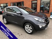 """USED 2013 63 KIA SPORTAGE 2.0 CRDI KX-3 5DOOR 134 BHP USB & AUX Sockets   :   Cruise Control   :   Bluetooth Connectivity   :   Twin Sunroof        Voice Control : Front & Rear Parking Sensors : 18"""" Alloy Wheels : Full Service History"""