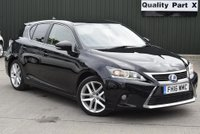 USED 2016 16 LEXUS CT 1.8 Luxury E-CVT 5dr 1 OWNER,SATNAV,LEATHERS,DAB