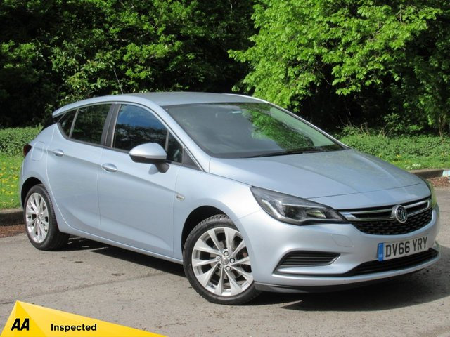 USED 2016 66 VAUXHALL ASTRA 1.6 DESIGN CDTI 5d 108 BHP MANUFACTURERS WARRANTY OCT 2019