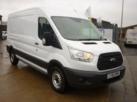 2016 FORD TRANSIT 2.2 350 S/H/ROOF PANEL VAN 100 BHP remote locking and electirc windows  £SOLD