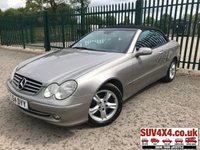 USED 2004 54 MERCEDES-BENZ CLK 1.8 CLK200 KOMPRESSOR AVANTGARDE 2d 163 BHP ALLOYS LEATHER CONVERTIBLE CRUISE BLUETOOTH A/C MOT 05/20 SILVER MET WITH FULL BLACK LEATHER TRIM. CRUISE CONTROL. 16 INCH ALLOYS. COLOUR CODED TRIMS. BLUETOOTH PREP. CLIMATE CONTROL INCLUDING AIR CON. R/CD PLAYER. MFSW. MOT 05/20. AGE/MILEAGE RELATED SALE. P/X CLEARANCE CENTRE - LS23 7FQ. TEL 01937 849492 OPTION 4