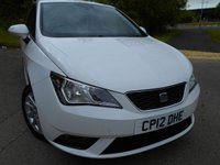 USED 2012 12 SEAT IBIZA 1.4 SE 3d 85 BHP ** ONE PREVIOUS OWNER , YES ONLY 51,774 MILES , GROUP 9 INSURANCE **