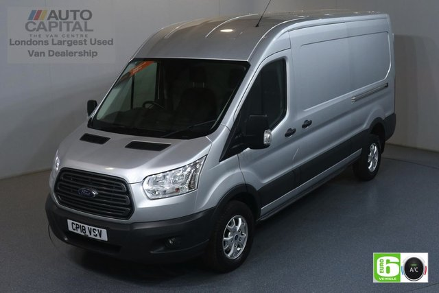 2018 18 FORD TRANSIT 2.0 350 TREND L3 H2 LWB 129 BHP RWD EURO 6 ENGINE AIR CON, FRONT-REAR PARKING SENSORS