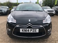"""USED 2014 14 CITROEN DS3 1.2 DSIGN 3d 82 BHP £20 ROAD TAX, 17"""" ALLOYS, AIR CONDITIONING, NEW MOT, 5 SERVICE STAMPS, SPARE KEY"""