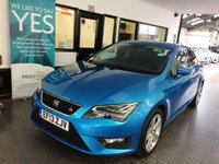 USED 2013 13 SEAT LEON 1.4 TSI FR TECHNOLOGY 3d 140 BHP Two owners, full and comprehensive service history, May 2020 advisory free Mot. Finished in Metallic Alor Blue with Black part leather seats.