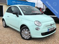 USED 2015 15 FIAT 500 1.2 TWINAIR LOUNGE 3d 105 BHP Pistachio Green Petrol 1 Lady Owner