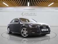 "USED 2014 14 AUDI A4 2.0 TDI S LINE START/STOP 4d AUTO 148 BHP -  SAT NAV | LEATHER | 18"" ALLOYS 