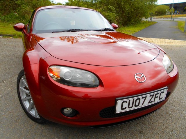 2007 07 MAZDA MX-5 2.0 I ROADSTER SPORT 2d 160 BHP ** ONE PREVIOUS OWNER , YES ONLY 36K  ,HEATED LEATHER SEATS , ELECTRIC ROOF AND WINDOWS,  GREAT COLOUR TOO **
