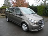 USED 2016 16 MERCEDES-BENZ VITO 2.1 114 BLUETEC TOURER PRO 5d 136 BHP Full Leather Seats, 9 Seater, Cruise Control, ULEZ Compliant, Air Con, Rear Parking Sensors