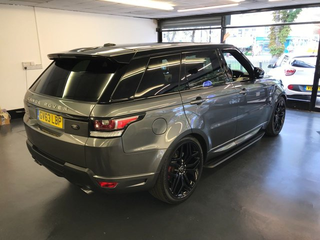 "USED 2013 63 LAND ROVER RANGE ROVER SPORT 5.0 V8 AUTOBIOGRAPHY DYNAMIC 5d AUTO 510 BHP HUGE SPEC, REAR SCREENS, PAN ROOF, CAMERA, 22"" WHEELS, FULL LAND ROVER SERVICE HISTORY"