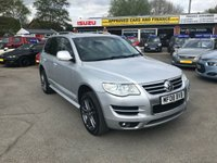 USED 2008 08 VOLKSWAGEN TOUAREG 3.0 V6 ALTITUDE TDI 5d AUTO 221 BHP IN METALLIC SILVER WITH A FULL SERVICE HISTORY WITH 102,000 ON THE CLOCK! APPROVED CARS AND FINANCE ARE PLEASED TO OFFER THIS VOLKSWAGEN TOUAREG 3.0 V6 ALTITUDE TDI 5 DOOR AUTOMATIC 221 BHP IN METALLIC SILVER WITH 102,000 MILES ON THE CLOCK WITH A FULL SERVICE HISTORY SERVICED AT14K,28K,45K,51K,58K,82K,84K AND 90K WITH A MASSIVE SPEC SUCH AS SAT NAV, AIR CON, ELECTRIC WINDOWS, FULL LEATHER AND HEATED SEATS AND FULLY AUTOMATIC. NOT A VEHICLE TO BE MISSED DRIVES SUPERB ALSO IN A IMMACULATE CONDITION FIRST TO VIEW WILL BUY!