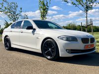 USED 2012 62 BMW 5 SERIES 2.0 520D SE AUTO 181 BHP 4DR SALOON +FULL LEATHER+PRIVACY+ SAT NAV
