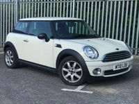 2010 MINI HATCH ONE 1.6 ONE 3d. VERY LOW MILEAGE £SOLD