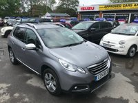 USED 2014 14 PEUGEOT 2008 1.6 ALLURE 5d AUTO 118 BHP IN GREY WITH SAT NAV AND A HUGH SPEC WITH A FULL SERVICE HISTORY. APPROVED CARS ARE PLEASED TO OFFER THIS PEUGEOT 2008 1.6 ALLURE 5d AUTO 118 BHP IN GREY WITH SAT NAV AND A HUGH SPEC INCLUDING HALF LEATHER SEATS,AIR CON,PRIVACY GLASS,ALLOYS,BLUETOOTH,REAR PARKING SENSORS,ELECTRIC FOLDING MIRRORS AND MUCH MORE WITH A FULL SERVICE HISTORY(SEE PICTURES) AND ONLY ONE OWNER FROM NEW ONE CAR NOT TO BE MISSED.