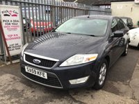 USED 2009 59 FORD MONDEO 2.0 ZETEC TDCI 5d 140 BHP Great diesel family hatchback, economical.