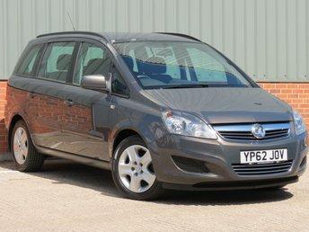 2012 VAUXHALL ZAFIRA 1.6 EXCLUSIV 5d 113 BHP £5995.00