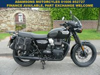USED 2018 18 TRIUMPH BONNEVILLE T100 BLACK 0.9 1d