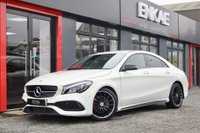 USED 2016 66 MERCEDES-BENZ CLA 2.1 CLA 220 D AMG LINE 4d AUTO 174 BHP CLA 45 LOOKS*RED CALIPERS*NIGHT PCK*AMG ALLOYS*HEATED SEATS*BLACK REAR SPOILER*FSH*PRIVACY GLASS*LIGHTING PACK*1 PREVIOUS OWNER*MANUFACTURERS WARRANTY TILL 1/9/19