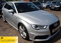 USED 2013 13 AUDI A3 2.0 TDI S LINE 3d 148 BHP 4 SERVICE STAMPS 1 PREV OWNER SLINE BLACK LEATHER TRIM