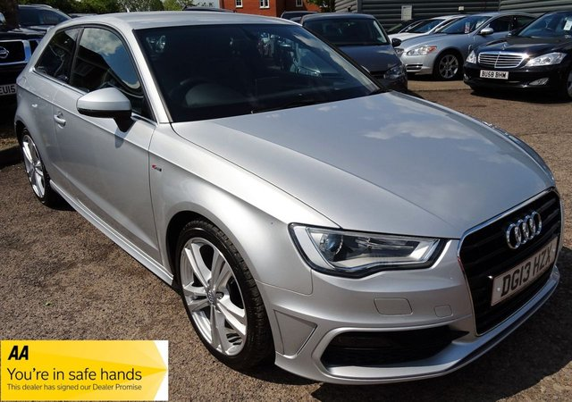 USED 2013 13 AUDI A3 2.0 TDI S LINE 3d 148 BHP £1045 OPTIONAL EXTRAS FITTED, 4 SERVICE STAMPS, 1 PREV OWNER,