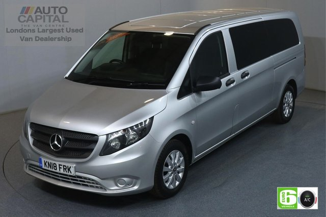 2018 18 MERCEDES-BENZ VITO 2.1 114 BLUETEC TOURER SELECT LWB 136 BHP 9 SEATER MINIBUS AUTO AIR CON EURO 6 £24490+VAT, MANUFACTURE WARRANTY UNTIL 19/03/2021