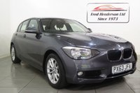 USED 2013 63 BMW 1 SERIES 1.6 116I SE 5d AUTO 135 BHP Lovely 116i Automatic that we have taken in part exchange. Very clean inside and out and a real joy to drive. Packed full of features and priced sensibly. We don't expect  to wait long for this to sell so if you're interested simply get in touch as soon as you can and one of our experienced sales team will be pleased to assist. We offer ZERO deposit finance at competitive rates and we welcome your part exchange.