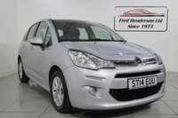 USED 2014 14 CITROEN C3 1.2 VTR PLUS 5d 80 BHP Great Example Of Citroen's popular C3. Packed with family friendly features for safe and trouble free motoring. We offer ZERO deposit finance and we welcome your part exchange. To arrange a viewing or test drive simply get in touch and one of our experienced sales team will be pleased to assist.