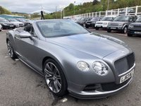 USED 2013 63 BENTLEY CONTINENTAL 6.0 GT SPEED 2d AUTO 616 BHP Huge Spec, Full Carbon Exterior Package, Full Bentley History