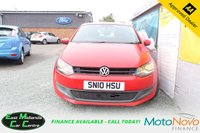 USED 2010 10 VOLKSWAGEN POLO 1.2 SE TDI 3d 74 BHP PETROL RED FULL SERVICE HISTORY + CAMBELT HAS BEEN REPLACED