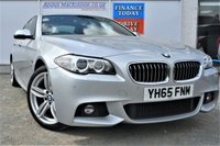 USED 2015 65 BMW 5 SERIES 3.0 535D M SPORT PLUS 4dr Saloon AUTO with Massive High Spec inc M Sport Plus Package Professional Navigation Sat Nav Rear Camera Adaptive Headlights Enhanced Bluetooth Mobile System Looks Fantastic in Glacier Silver Metallic with Black Dakota Leather Interior Privacy Glass and much more GOOD SERVICE HISTORY