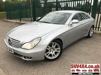 USED 2006 56 MERCEDES-BENZ CLS CLASS 3.0 CLS320 CDI 4d AUTO 222 BHP ALLOY NAV LEATHER BLUETOOTH CRUISE A/C MOT 01/20 SATELLITE NAVIGATION. SILVER WITH FULL BLACK LEATHER TRIM. ELECTRIC HEATED MEMORY SEATS. CRUISE CONTROL. 17 INCH ALLOYS. COLOUR CODED TRIMS. PARKING SENSORS. BLUETOOTH PREP. DUAL CLIMATE CONTROL INCLUDING AIR CON. R/CD PLAYER. MFSW. SPARE ALLOY WHEEL. MOT 01/20. FULL SERVICE HISTORY. AGE/MILEAGE RELATED SALE. P/X CLEARANCE CENTRE - LS23 7FQ. TEL 01937 849492 OPTION 4