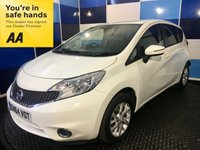 USED 2015 64 NISSAN NOTE 1.2 ACENTA PREMIUM 5d 80 BHP A stunning example of this very highly regarded family 5 door hatchback finished in unmarked white paintwork complemented with multispoke alloy wheels .This car comes equipped with satelite navigation,bluetooth phone conectivity,cruise control and speed limiter,onboard computer,digital climate control,start stop,front and rear fog lights rear parking sensors plus all the usual refinements. Fuel  ecconomy of 60.1 mpg on the combined cycle in conjunction with road tax of only £20 a year,one to vie