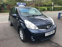 USED 2009 59 NISSAN NOTE 1.6 ACENTA 5d AUTO 110 BHP Buy with confidence from a garage that has been established  for 26 years.