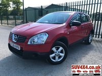 USED 2008 08 NISSAN QASHQAI 1.5 VISIA DCI 5d 105 BHP ALLOYS BLUETOOTH A/C MOT 10/19 RED  WITH BLACK CLOTH TRIM. 16 INCH ALLOYS. COLOUR CODED TRIMS. BLUETOOTH PREP. AIR CON. R/CD PLAYER. MFSW. MOT 10/19. SERVICE HISTORY. IN NEED OF SOME PAINT WORK. AGE/MILEAGE RELATED SALE. P/X CLEARANCE CENTRE LS23 7FQ. TEL 01937 849492 OPTION 4