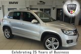 USED 2016 16 VOLKSWAGEN TIGUAN 2.0 R LINE EDITION TDI BMT 4MOTION 5d 148 BHP FINISHED IN STUNNING REFLEX SILVER WITH FULL LEATHER SEATS + FULL VW SERVICE HISTORY + SATELLITE NAVIGATION + XENON HEADLIGHTS + 20 INCH ALLOYS + HEATED FRONT SEATS + PARKING SENSORS + CRUISE CONTROL + BLUETOOTH + AIR CONDITIONING