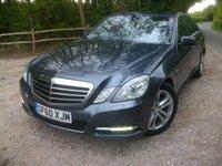 2010 MERCEDES-BENZ E CLASS 2.1 E220 CDI BLUEEFFICIENCY AVANTGARDE 4d AUTO 170 BHP £8950.00