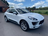 USED 2014 14 PORSCHE MACAN 3.0 D S PDK 5d AUTO 258 BHP LOOKS STUNNING IN WHITE WITH FULL HEATED BLACK LEATHER ONLY 29K FSH JUST SERVICED BY PORSCHE
