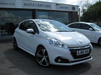 USED 2016 66 PEUGEOT 208 1.6 THP GTI PRESTIGE 3d 208 BHP One owner Full Peugeot service History Navigation Bluetooth USB Half Leather ports seats. Panoramic Sunroof