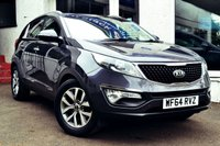 USED 2014 64 KIA SPORTAGE 1.7L CRDI 2 ISG 5d 114 BHP LOVELY KIA SPORTAGE 2 DIESEL WITH PANORAMIC ROOF